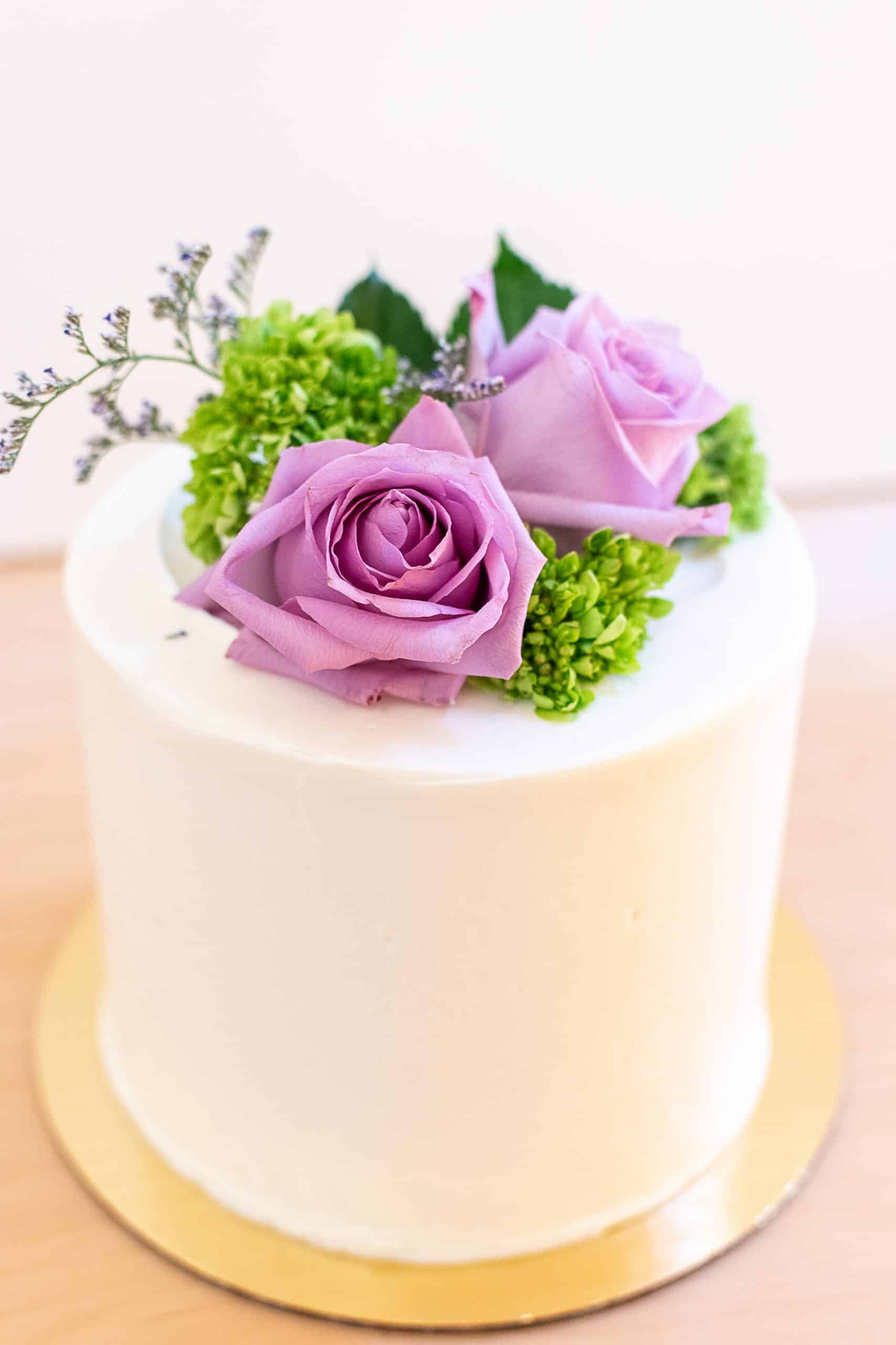 Signature Cake with Fresh Flowers