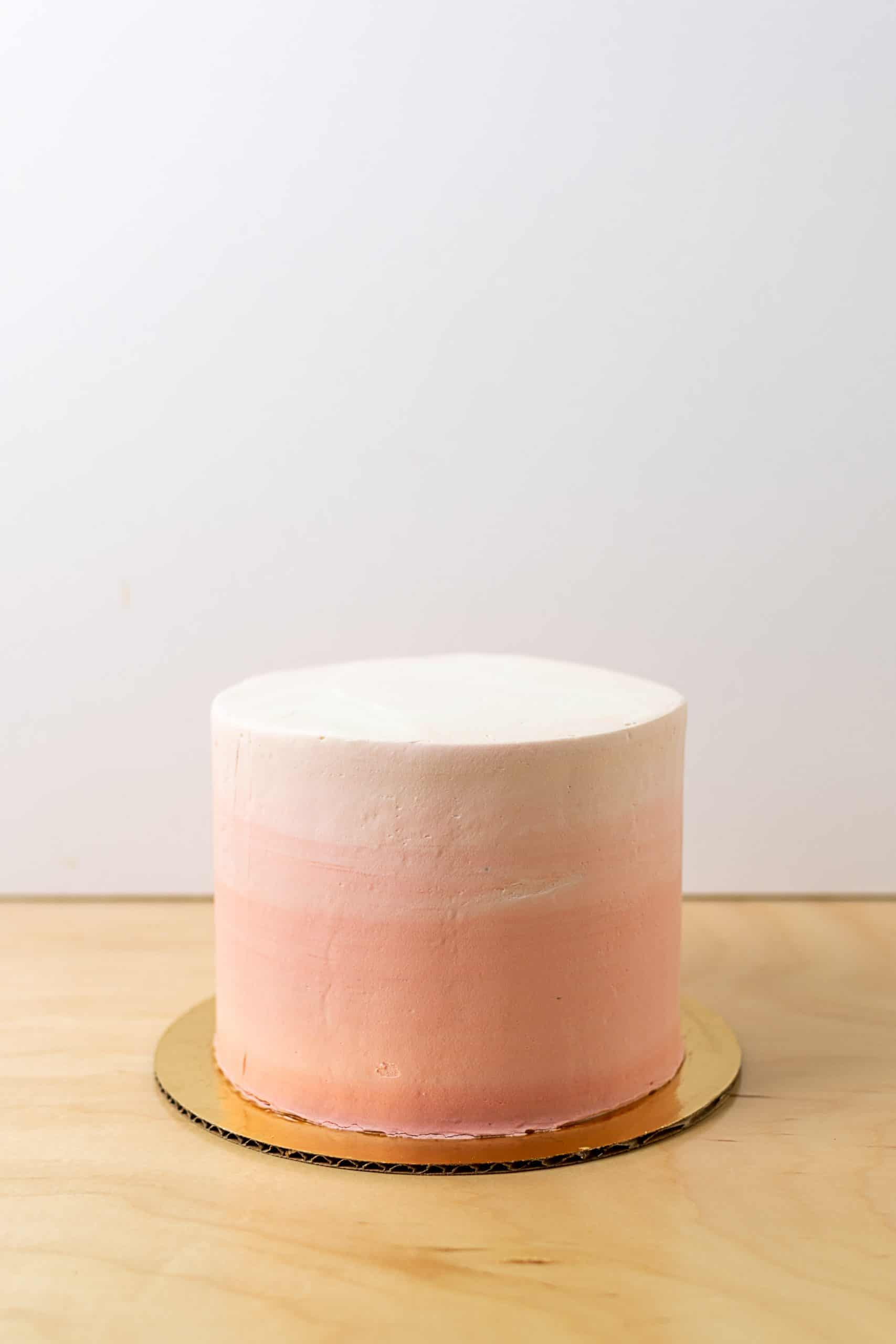 Signitaure Cake Decorated with an Ombre Side