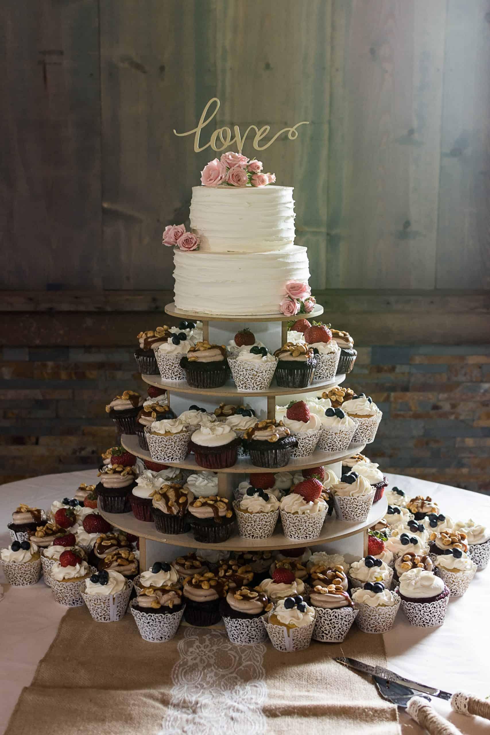 Rustic Wedding Cupcake Tower