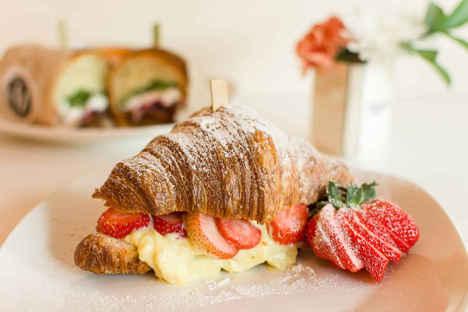 Strawberry Cream Croissant