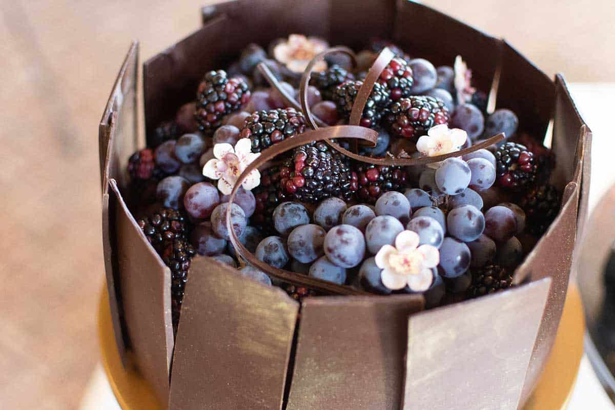 Chocolate Harvest Wedding Cake