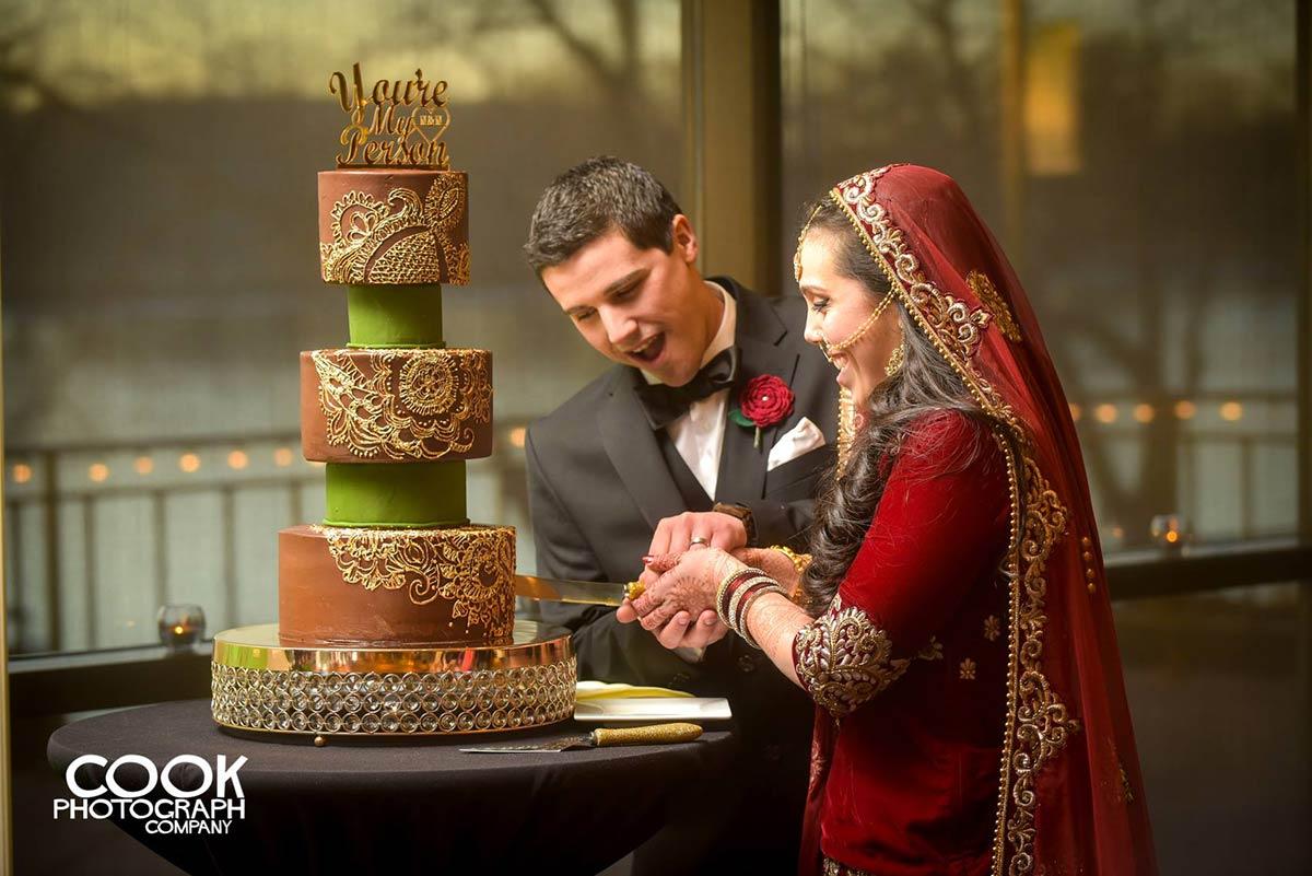 Henna Inspired Chocolate Cake